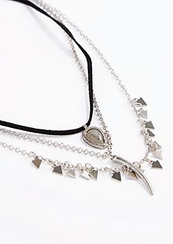 Arrow Drop Choker Trio