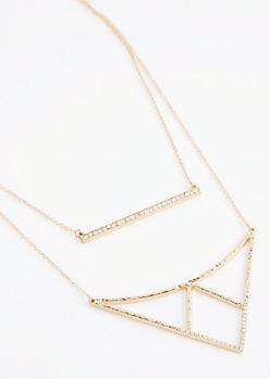 Geo Pendant Layered Necklace