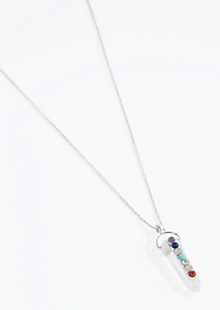 Clear Prism 7 Stones Of Healing Necklace