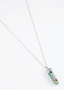 Green Prism 7 Stones Of Healing Necklace