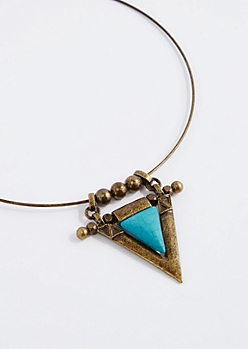 Turquoise Tribal Collar Necklace