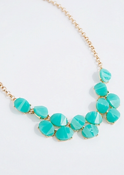 Turquoise Stone Mini Statement Necklace
