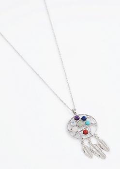 Dreamcatcher 7 Stones Of Healing Necklace