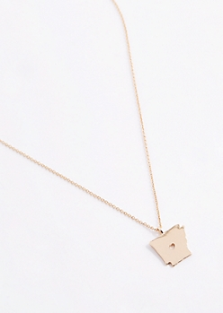Arkansas Gold Charm Necklace