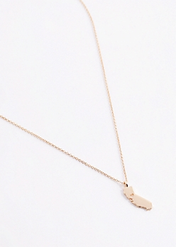 California Gold Charm Necklace