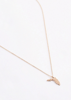 Florida Gold Charm Necklace