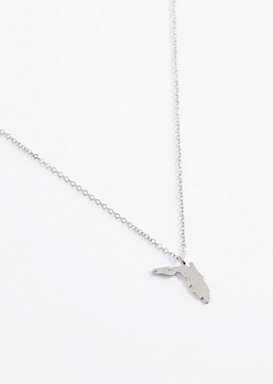 Florida Silver Charm Necklace