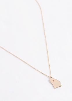 Georgia Gold Charm Necklace
