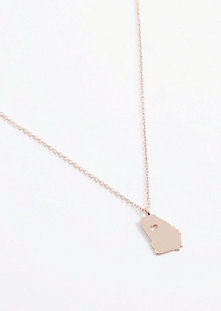 Georgia Rose Gold Charm Necklace