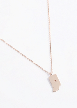 Indiana Rose Gold Charm Necklace