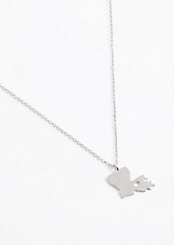 Louisiana Silver Charm Necklace