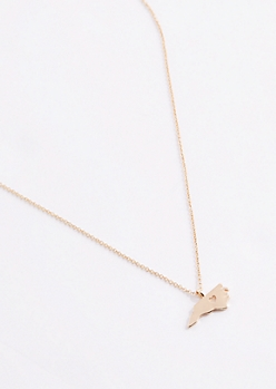 North Carolina Gold Charm Necklace