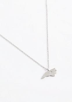 North Carolina Silver Charm Necklace