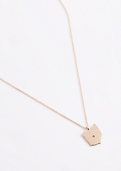 Ohio Gold Charm Necklace
