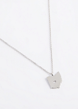 Ohio Silver Charm Necklace