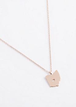Ohio Rose Gold Charm Necklace