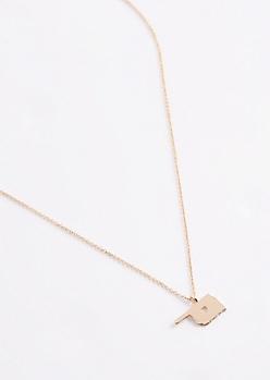 Oklahoma Gold Charm Necklace