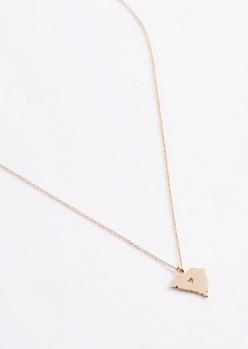 South Carolina Gold Charm Necklace