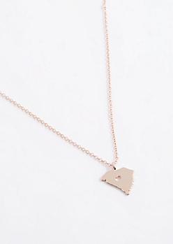 South Carolina Rose Gold Charm Necklace