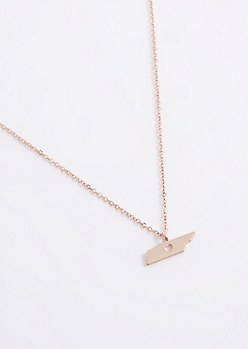Tennessee Rose Gold Charm Necklace