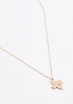 Texas Gold Charm Necklace