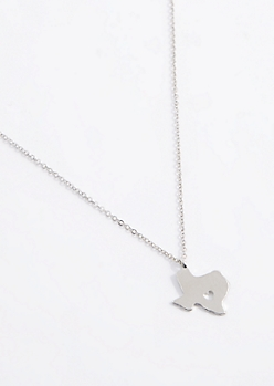 Texas Silver Charm Necklace