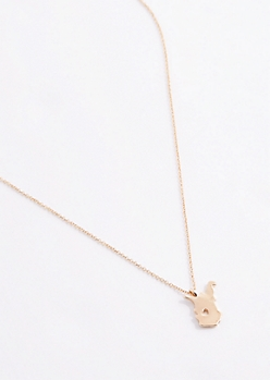 West Virginia Gold Charm Necklace