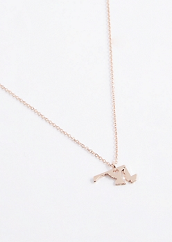 Maryland Rose Gold Charm Necklace