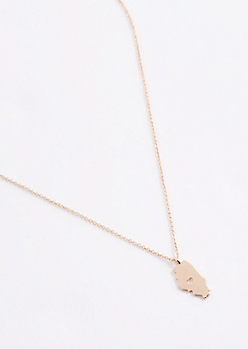 Illinois Gold Charm Necklace