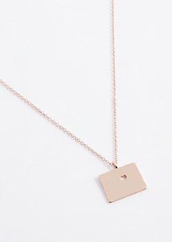 Colorado Rose Gold Charm Necklace