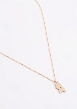 Mississippi Gold Charm Necklace