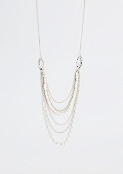 Timeless Elegance Faux Pearl Necklace