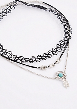 3-Pack Dreamcatcher Choker Set