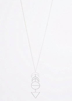Matte Moon Phase Drop Necklace