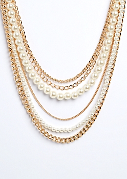 Pearls & Links Layered Necklace