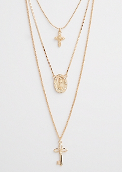 Mary Pendant Layered Necklace