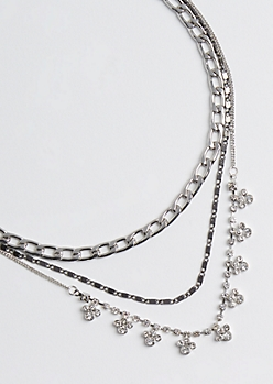 3-Pack Paws & Chain Necklace Set