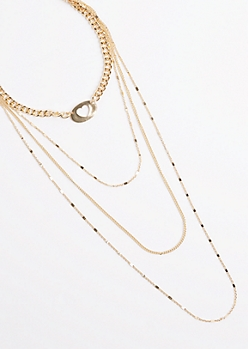Heart Drop Tiered Necklace