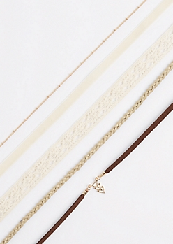 5-Pack Crochet & Geo Choker Set