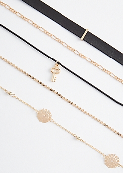 5-Pack Filigree Medallion Choker Set