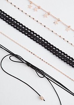 5-Pack Starry Crochet Choker Set