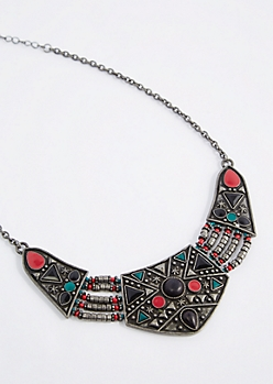 Antique Celestial Tribal Necklace