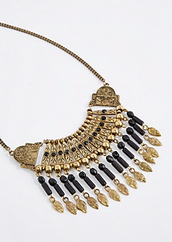 Antique Bohemian Drop Necklace