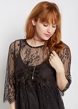 Blush Palette Choker & Y-Necklace Set