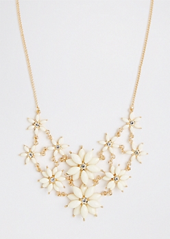 Ivory Floating Bouquet Necklace