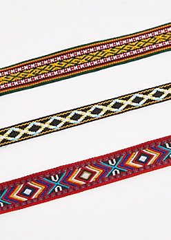 3-Pack Tapestry Ribbon Choker Set