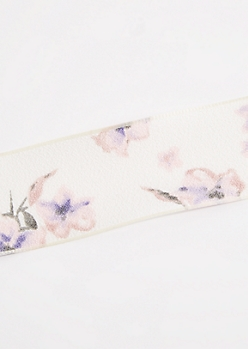 Ivory Crepe Floral Choker