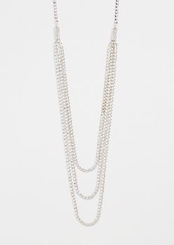 Diamante Swag Chain Necklace