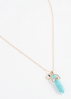 Turquoise Prism Pendant Necklace