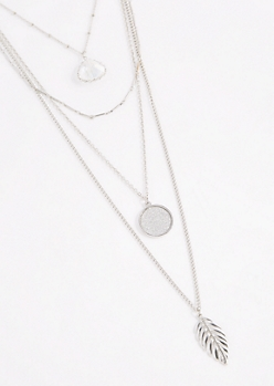 Clear Stone Layered Necklace